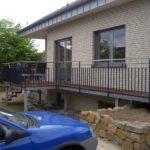 gbaa001 Terrassenvorbau verzinkt, Geländer pulverbeschichtet mit Edelstahlhandlauf - Außenanlagen