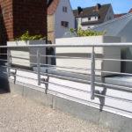 gbaa004 Brüstung aus verzinktem Stahl - Außenanlagen