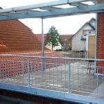 gbaa010 Balkongeländer verzinkt mit Edelstahlhandlauf - Außenanlagen