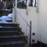 gbaa017 Außengeländer mit Aufnahme für eine Rankhilfe - Außenanlagen