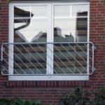 gbaa018 Französisches Balkongitter aus verzinktem Stahl - Außenanlagen