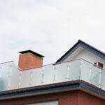 gbaa021 Edelstahlgeländer mit Glasfüllelementen - Außenanlagen