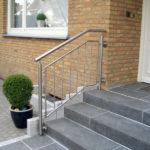 gbeb010 Edelstahlhandlauf für Treppenaufgang
