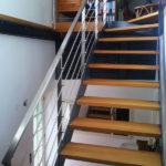 gbia008 Geschwungene Treppe mit Edelstahlhandlauf - Innenanlagen