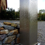 gbme002 Edelstahlbrunnen geschliffen (Maße: 180x40x40cm) - Metallgestaltung