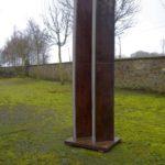 gbme006 Skulptur aus Stahl und Edelstahl - Metallgestaltung