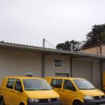 gbsk008 Hallenvordach aus verzinktem Stahl - Schlosserarbeiten