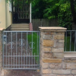 gbto002 Verzinkte Pforte mit Zierelementen - Tore, Türen & Zäune