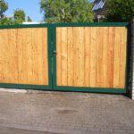 gbto007 Verzinktes Hoftor mit Holz-Sichtschutz - Tore, Türen & Zäune