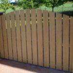 gbto009 Edelstahltor mit Holzbelattung - Tore, Türen & Zäune