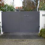 gbto010 Elektronisch angetriebenes Aluminium Hoftor (Lichtschranke) - Tore, Türen & Zäune
